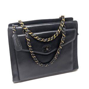 🎉HPx 2🎉CHANEL Black Bag Flap Black Hardware💥